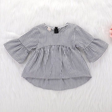 Striped Girls Dress For 0-24M