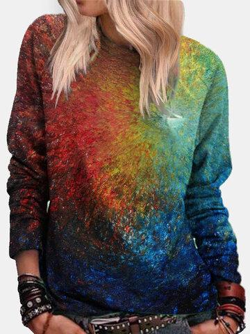Tie-dye Long Sleeve Sweatshirt