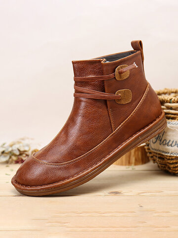 Stitching Slip Resistant Winter Ankle Boots