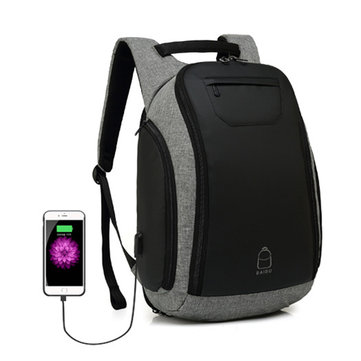 Large Capacity USB Charging Port 17 Inch Laptop Backpack