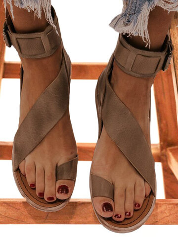 Retro Non Slip Back Zipper Sandals