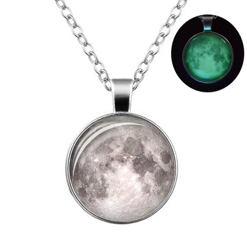Retro Luminous Moon Timer Necklace