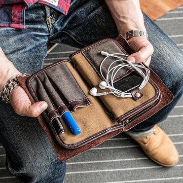 Homens Carteira De Cartão Vintage Solid Phone Bolsa Long Wallet