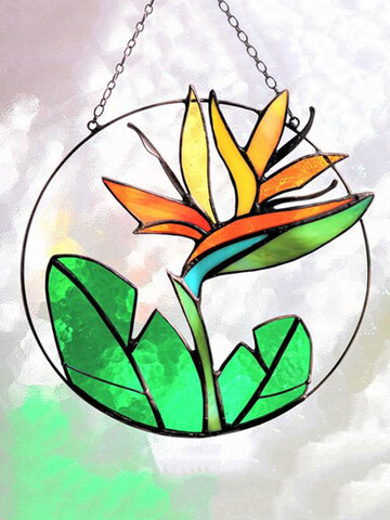 1 PC Acrylic Stained Suncatcher Wall Hanging Art Decor Hope Green Indoor Home Accessories