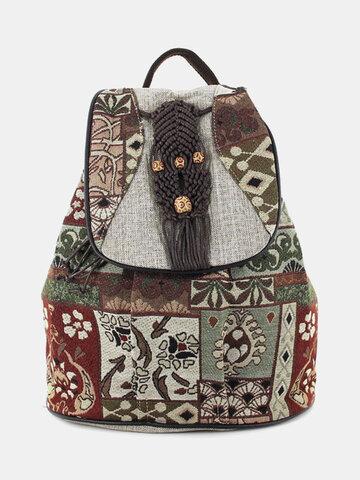 حقيبة نمط عرقية كبيرة سعة