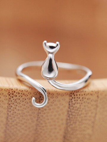 Cat Open Tail Ring