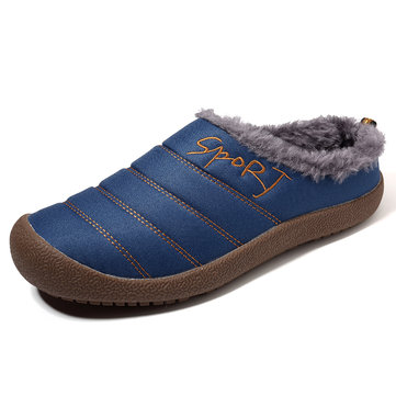 Homens de grande porte Stripe Warm Home Slipper Boots