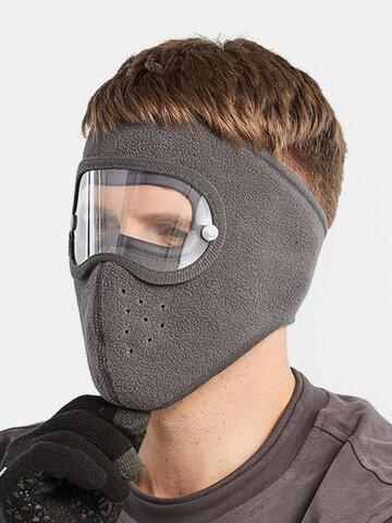 Men & Damen Eye Face Gehörschutz HD Brillenmaske