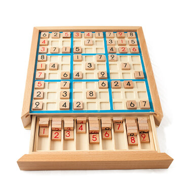 Wooden Sudoku Nine Palace Game Chess Pupils Logic Thinking