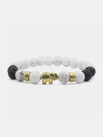 Ethnic Style White Turquoise Bracelet