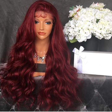 Red Fluffy Long Curly Wig, Inches