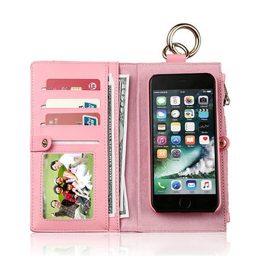 Genuine Leather Phone Cases For iphone 3 Card Slot Wallet