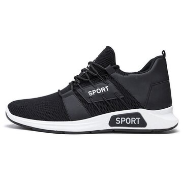 Men Knitted Breathable Running Sneakers