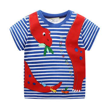 Camiseta con estampado animal para niños 1-9Y
