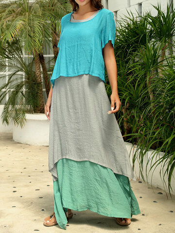 Layered Two Pieces Dress
