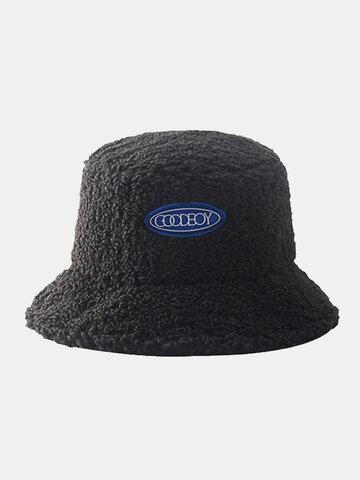 Men & Women Lamb Wool Warm Bucket Hat