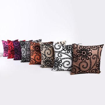 Cuscino decorativo a forma di fiore stampato