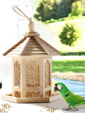 Teilen mit: Holzvogelhaus Feeder Rahmen Vogelkäfig Netz für Fütterungswerkzeug
