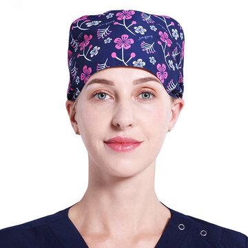 Chapeau d'infirmière de salle d'opération imprimé pour femmes