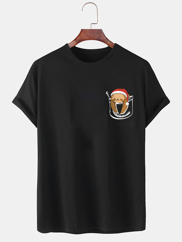 100% Cotton Christmas Bear  T-Shirt