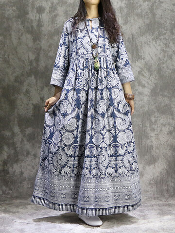 Ethnic Printed Maxi Dresses