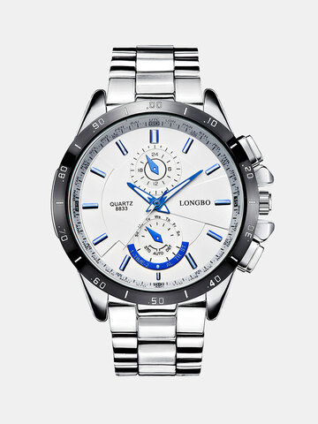 Luxury Waterproof Silver Watches for Men