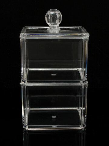هذا الاكريليك واضح تخزين مربع مناسب لعرض التجميل، مسمار البولندية، الخ ({}] اللون: كلير