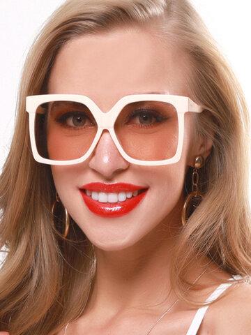 Retro Big Box New Sunglasses Contrast Color Sunglasses