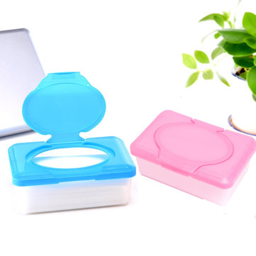 Plastic Wet Tissue Paper Case Baby Wipes Storage Box