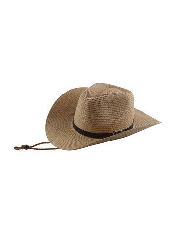 Wide Straw Hat Belt Buckle Sun Protection Hat