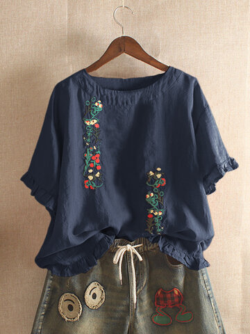 Embroidery Stringy Selvedge Blouse