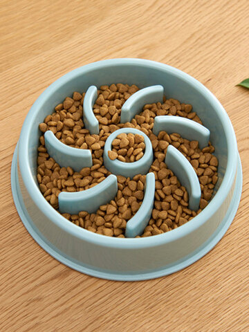 Pet Dog Katze Slow Eat Bowl Welpenfutterautomat Eat Bowl Health Diet Adipositas liefert