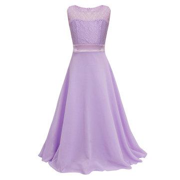 Girls Lace Chiffon Long Dress 4Y-15Y