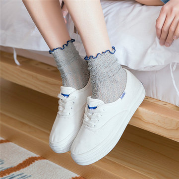 Hollow Heap Lace Socks фото