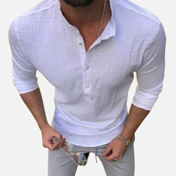 Mens Casual  Linen Cotton T Shirts