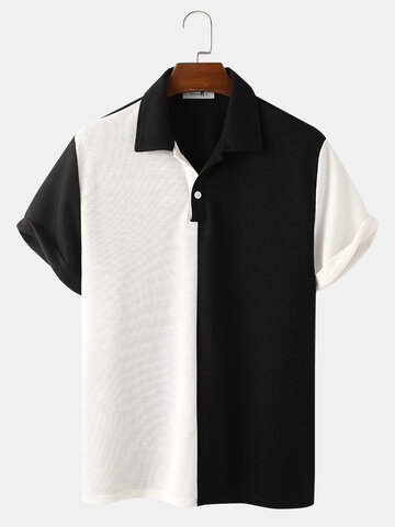 Two Tone Knitted Golf Shirt