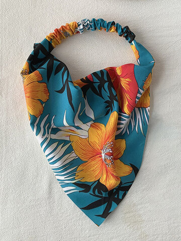 Women Chiffon Floral Headband