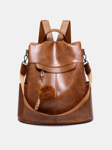 Solid Casual Women Backpack