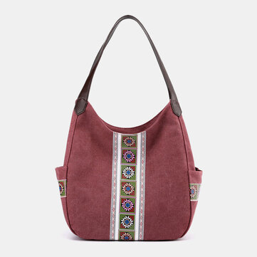 Vintage Printed Large Capacity Tote Bag
