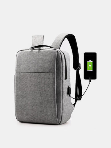 Oxford USB Charging Light Weight Large Capacity 15.6 Inch Laptop Bag Backpack