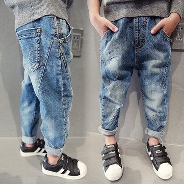 Elastic Waist Harem Style Kids Jeans