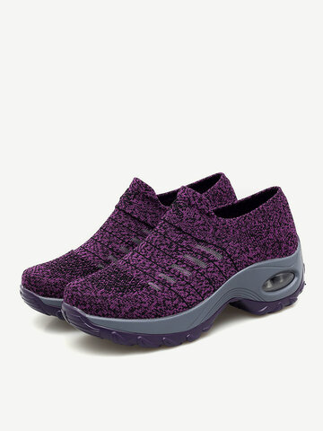 Breathable Hollow Platform Casual Shoes