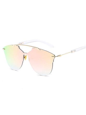 Thin Metal Frame Sunglasses Casual Outdoor Anti-UV
