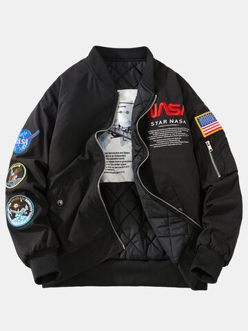NASA Letter Pattern Embroidery Jackets
