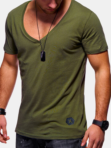 Brief Cotton Breathable Casual T Shirt