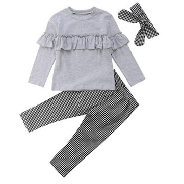3Pcs Girls Clothing Sets For 2Y-9Y