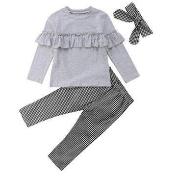 3pcs juegos de ropa de niñas para 2Y-9Y