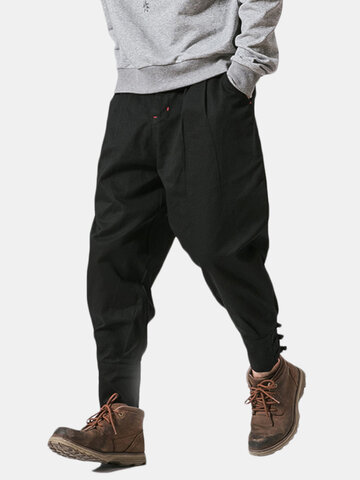 Mens National Retro Cotton Loose Harlan Pants