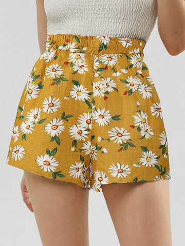 Bohemia Sunflower Print Short