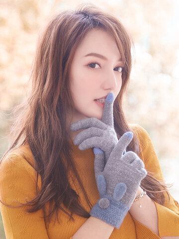 Vogue Cute Knit Gloves